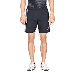 Attro Men's Polyester Shorts (ATRMSH01011KXL_Black_X-Large)