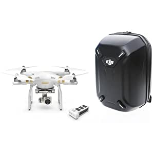 DJI Phantom 3 Professional Quadcopter with 4K Camera, 3-Axis Gimbal, Extra Battery and Hard-shell Backpack (DJI Logo), Remote Controller Included