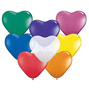 Heart Balloons Assorted helium party balloons