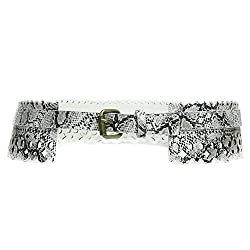 Dressy Leather Belt (Medium, White)