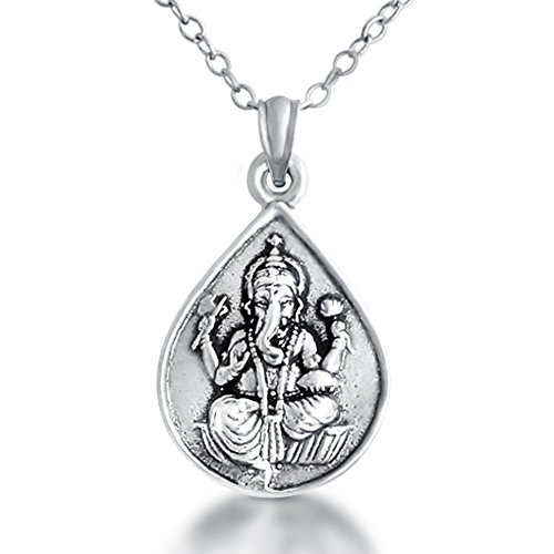 925-sterling-silver-ganesha-elephant-god-om-pendant-necklace-0-inches