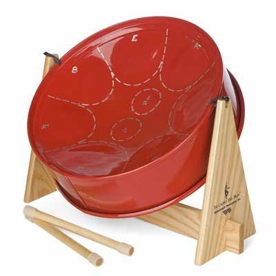 Woodstock Calypso Drum Set Red Steel Drum Musical Instrument