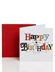 Happy Birthday Text Card