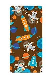 ZAPCASE Printed Back Cover for Sony Xperia C5 Ultra