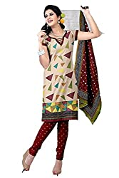 Riddhi Dresses Women's Cotton Unstitched Dress Material (Riddhi Dresses 96_Multi Coloured_Free Size)