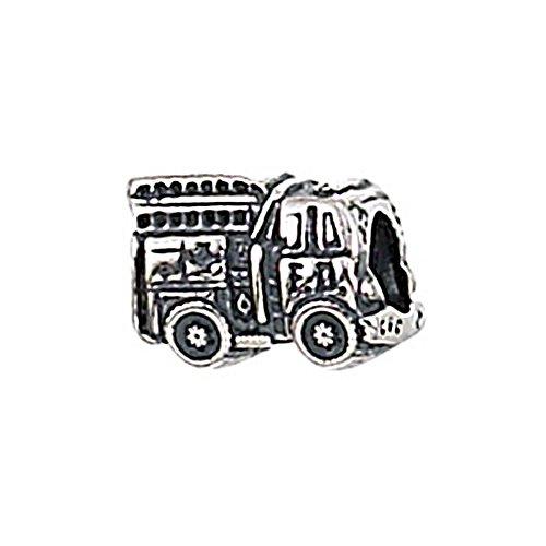 Zable Sterling Silver Fire Truck Bead