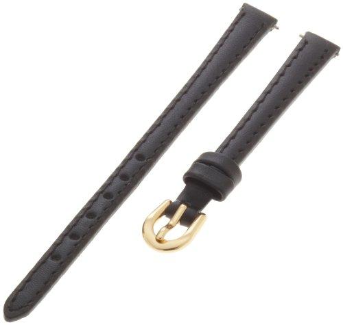 Timex Women'S Q7B860 Padded Calfskin 8Mm Black Replacement Watchband