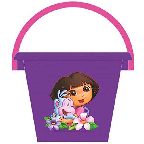 "Amscan Dora The Explorer Diameter Jumbo Birthday Party Favor Bucket, 9"", Purple/Violet"