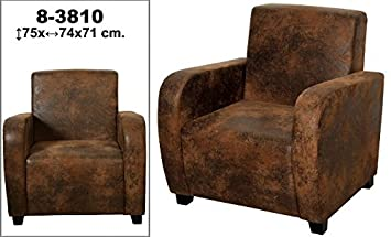 DonRegaloWeb – Sillon Clasico De polipiel decorato: Marron