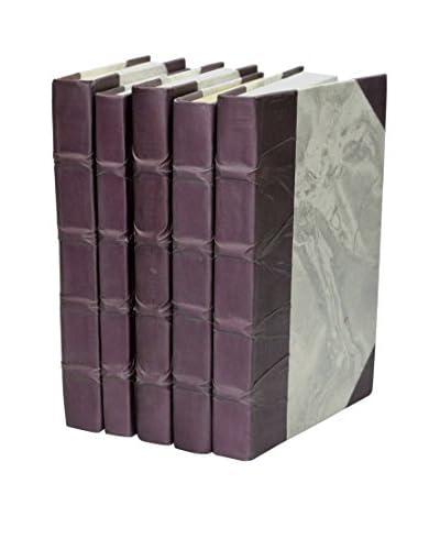 Set of 5 Parchment Collection Books, Purple