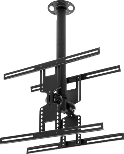 Displays2Go Dcel2642 Flat Tv Ceiling Mount For 26 - 60 Inches Monitors, Steel (Black)