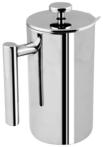 French Coffee Press - Double Wall 100% Stainless Steel - 32 Oz - by Utopia Kitchen (Stainless French Press Coffee compare prices)
