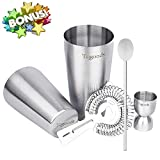 Cocktail Shaker Set for Professional Bartender and Home Bar Bonus Cocktail Recipe (ebook) by Tqgoods