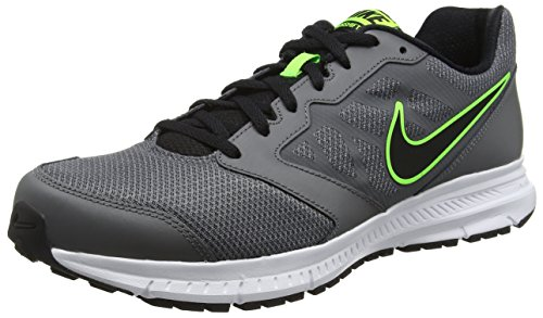 Nike Herren Downshifter 6 Laufschuhe, Grau (Dark Grey/Black-Elctrc Grn-Wht), 44.5 EU
