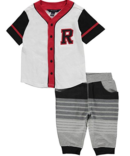"Rocawear Little Boys' Toddler ""Heavy Hitter"" 2-Piece Outfit - heather gray, 4t"
