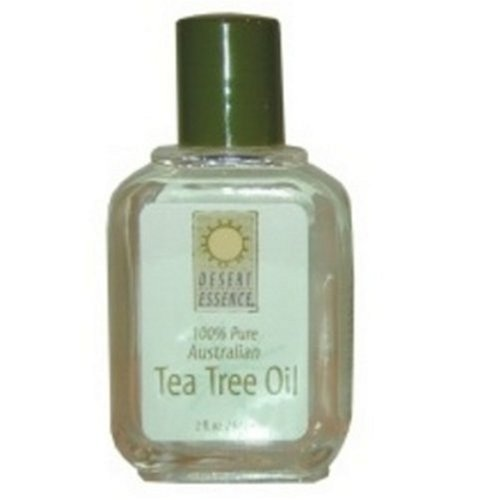Desert Essence Tea Tree Oil 100% Pure, 2-Ounce, 0.25 Bottle