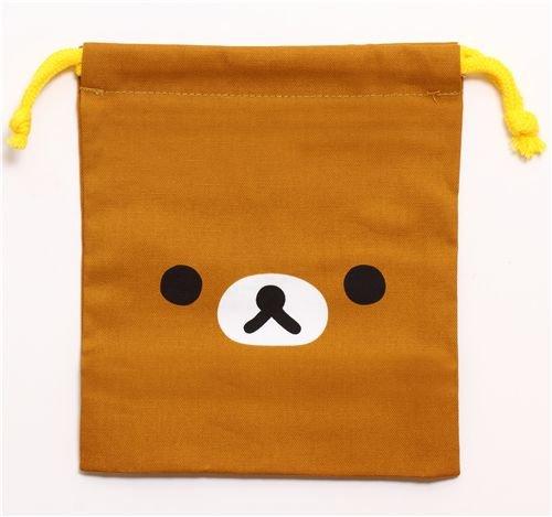 Best Price brown Rilakkuma bear bento pouch lunch bag