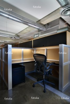 "Wallmonkeys Peel and Stick Wall Graphic - Empty Office Cubicle - 24""H x 16""W"