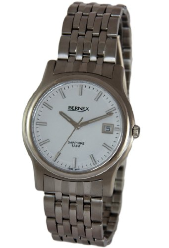 Bernex - Reloj de pulsera hombre, acero inoxidable, color plateado