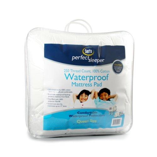 Serta Perfect Sleeper Waterproof Mattress Pad, King, White front-918582