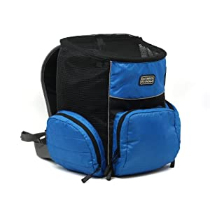 Kyjen 2506, Backpack Carrier Dog Carrier BackPack For Dogs Adjustable Carrier, Medium, Blue