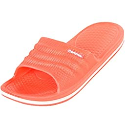 Cammie Women\'s Comfort Slip On Coral Slide Sandals 10 B(M) US