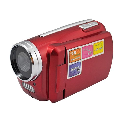 "Mini Series 1.8"" Lcd Screen 1.3 Mega Pixels Digital Video Camera - Red"