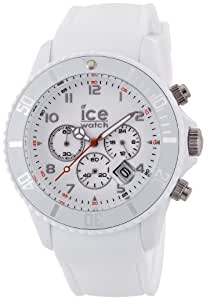 Ice-Watch Ice-Chrono Matte White Chronograph Dial and Matte White Silicone Strap CHM.WE.B.S.12