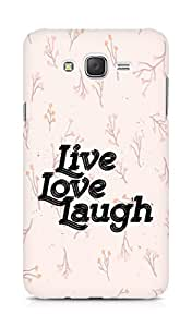 Amez Live Love Laugh Back Cover For Samsung Galaxy J7