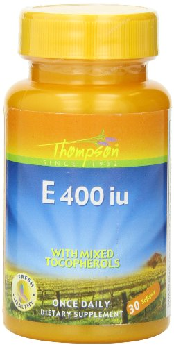 Thompson E With Mixed Tocopherols 400 Iu Softgels, 30 Count
