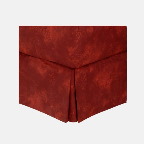Pomegranate Red - Bedskirt - Twin front-1064323
