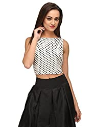 Xoxo Polka Crop Top