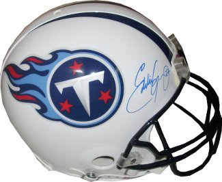 Eddie George signed Tennessee Titans Full Size Proline Helmet- JSA Hologram at Amazon.com