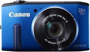 Canon PowerShot SX270 HS Appareil photo numérique compact 12,1 Mpix Zoom optique 20x Bleu
