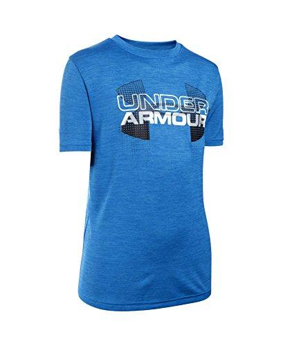 Under Armour Boys' Tech Big Logo Hybrid T-Shirt, Ultra Blue (909), Youth X-Large
