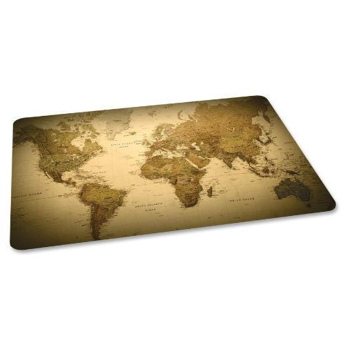 ES Robbins Trendsetter Rectangle World Map Printed Office Chair Mat for Hard Floors, 36 by 48-Inch (Es Robbins Hard Floor Chair Mat compare prices)