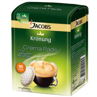 Get SENSEO JACOBS Krönung CREMA CLASSIC pods - 16 pods x 3 = TOTAL: 48 pods from Mondelēz International (formerly Kraft Foods)