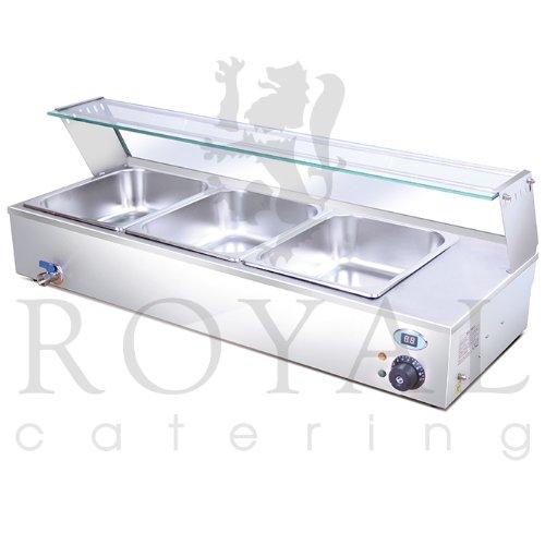 Royal catering rcbm 3 ba o mar a 3 cubetas 1300 w for Bano maria industrial
