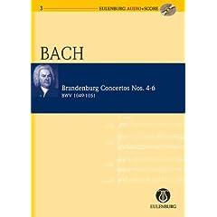 Brandenburg Concertos Nos. 4-6  BWV 1049-1051 (Eulenburg Audio+Score)