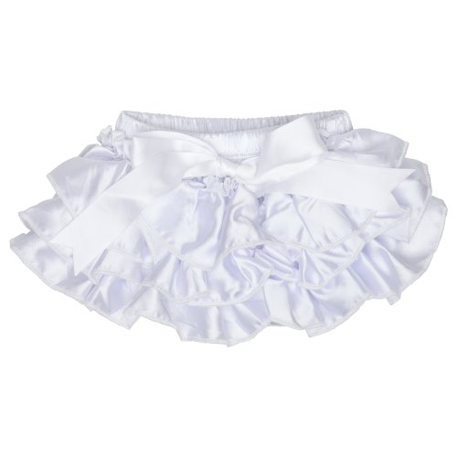 (White (6-24 Months)) Judanzy Satin Diaper Covers Bloomers