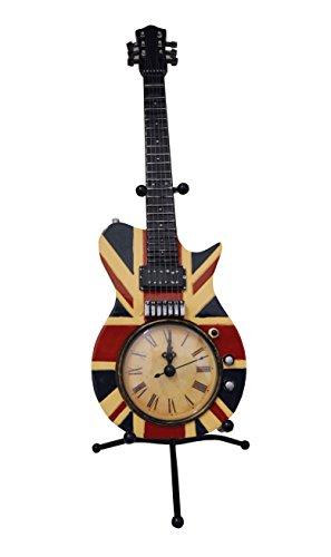 Wanduhr-mit-Stnder-fr-E-Gitarre