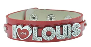 Red One Direction I Love Louis Bracelet, 1D Bracelet, 1D Wristband, 1D Wrist Band, One Direction Bracelet by Hinky Imports