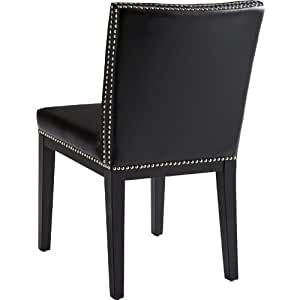 Vintage Parsons Chair [Set of 2] Upholstery: Leather Black