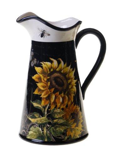 Certified International French Sunflowers Pitcher, 2.75-Quart