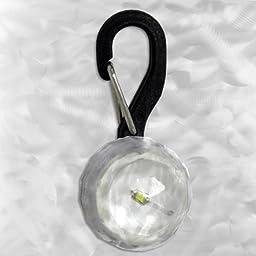 Nite-Ize PetLit LED Collar Light, White LED, Jewel Crystal - PCL02-03-02JE