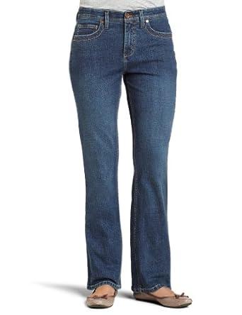 Lee Women's Petite Comfort Fit Milan Straight Leg Jean, Caspian Handsand, 4 Petite