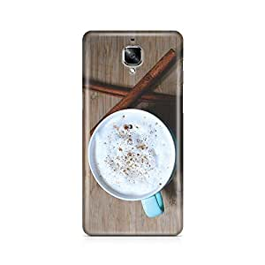 Motivatebox - Coffee Cup Oneplus Three (3) cover - Matte Polycarbonate 3D Hard case Mobile Cell Phone Protective BACK CASE COVER. Hard Shockproof Scratch-Proof Accessories
