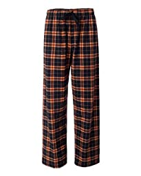 YogaColors Emoticon Cotton Flannel Lounge Pajama Pants in Many Different Color Combos (Medium, Orange/Black)