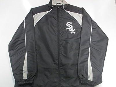 Chicago White Sox Mens Medium Embroidered Full Zip Windbreaker Jacket ACWS 8 M