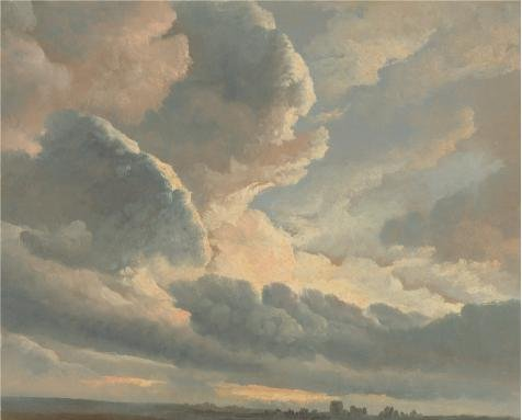 Perfect Effect Canvas ,the Best Price Art Decorative Prints On Canvas Of Oil Painting 'Study Of Clouds With A Sunset Near Rome, 1786 - 1801 By Simon Alexandre Clement Denis', 18x22 Inch / 46x57 Cm Is Best For Basement Decoration And Home Decoration And Gifts